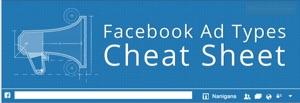 facebook advertisement cheat sheet infographic