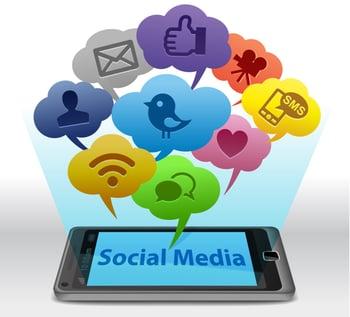 social media on a smartphone