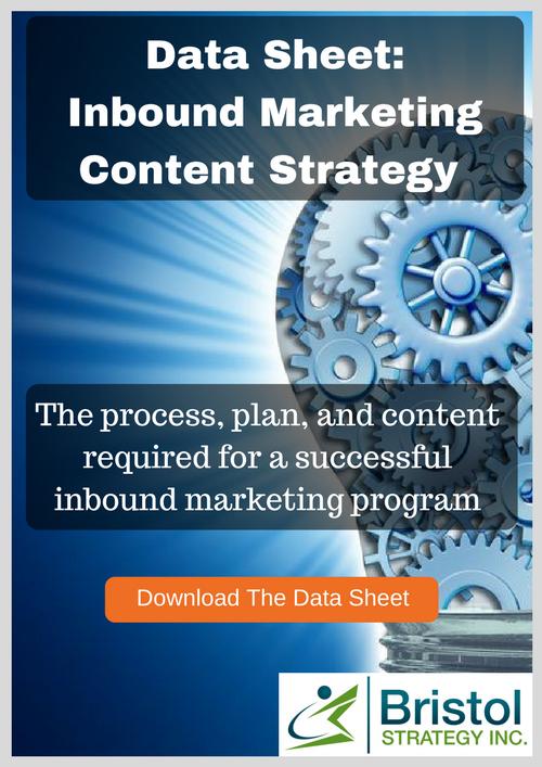 Inbound marketing content strategy data sheet