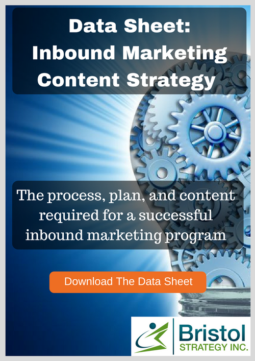 Inbound marketing content strategy data sheet