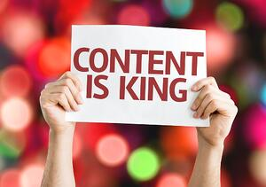 create the content for each website page