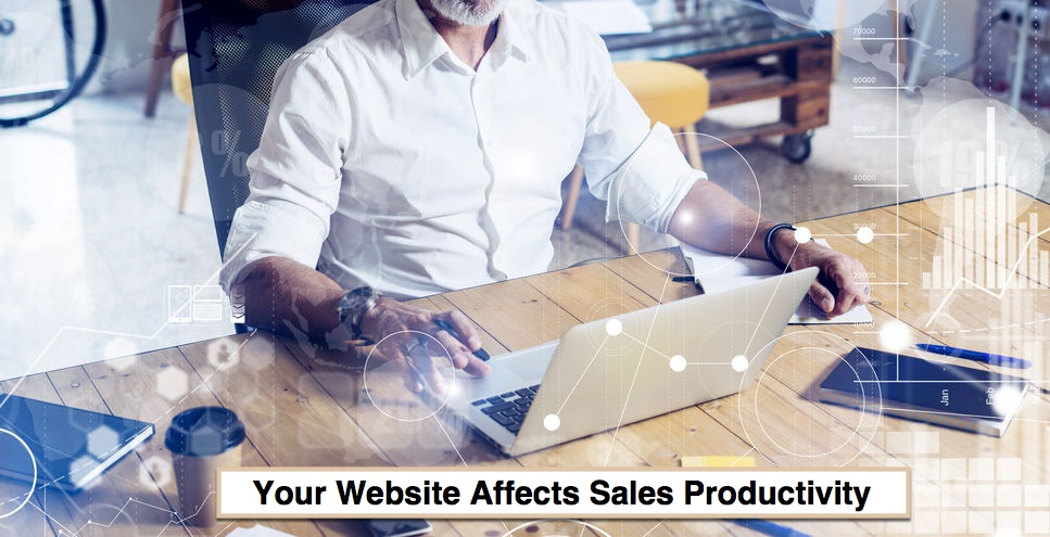 How does your website affect sales productivity?